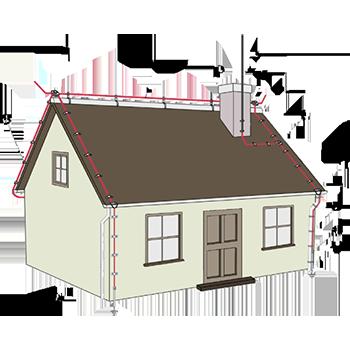 Особенности молниезащиты зданий со скатной кровлей