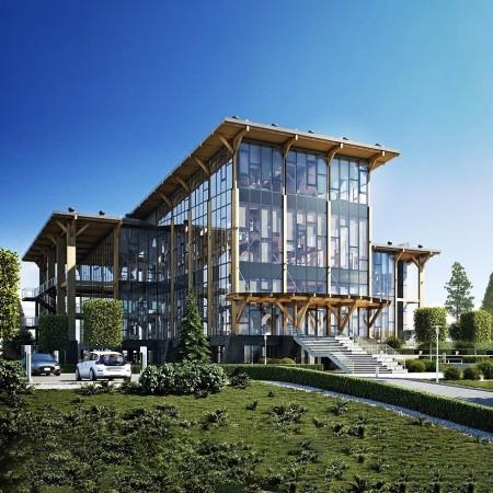 Система молниезащиты Езетек для самого высокого офисного здания из дерева в России!