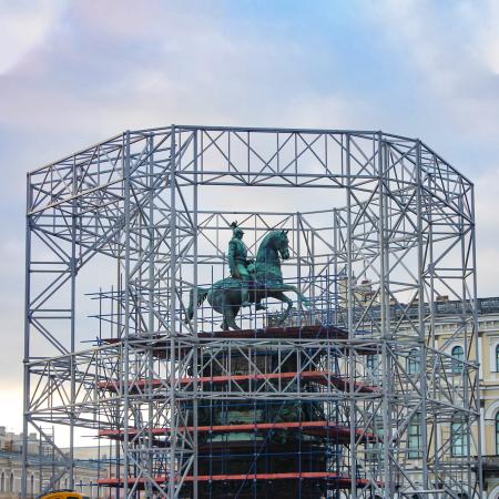 Реставрация памятника Николаю I – проект молниезащиты Ezetek