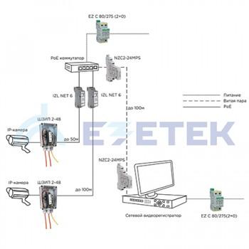 Защита систем IP-видеонаблюдения от перенапряжений