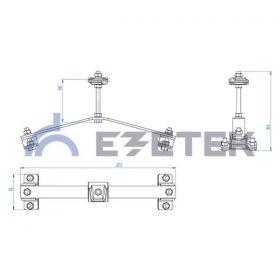 Держатель проводника круглого 8-10 мм для конька опорный, оцинк.