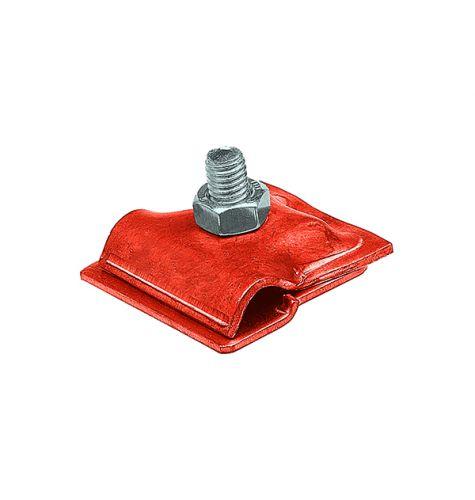 Держатель проводника круглого 6-10 мм для фальца 0.7-3 мм, медь