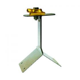 Держатель-зажим проводника круглого 8-10 мм для конька, высота 110 мм, латунь