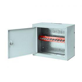 Шкаф шины заземления 10 подключений 250х300х155 мм