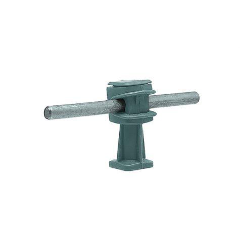 Держатель проводника круглого 6-8 мм серый, высота 36 мм, пластик