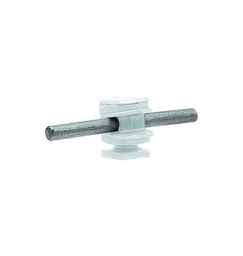 Держатель проводника круглого 6-8 мм прозрачный, высота 16 мм, пластик
