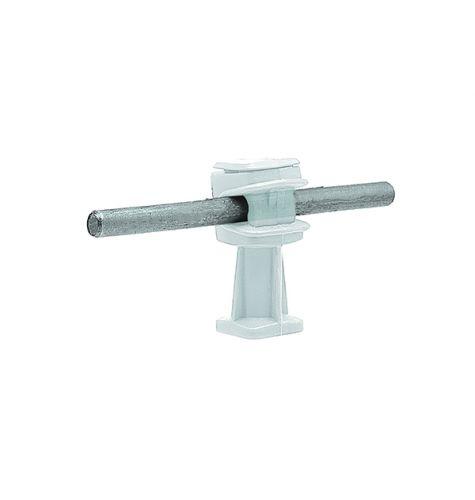 Держатель проводника круглого 6-8 мм прозрачный, высота 36 мм, пластик