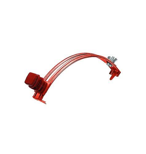Держатель проводника круглого 6-8 мм для конька, медь