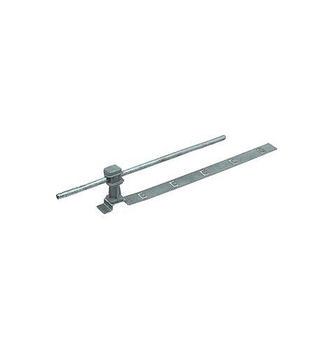 Держатель проводника круглого 6-8 мм для черепичной кровли серый, оцинк.