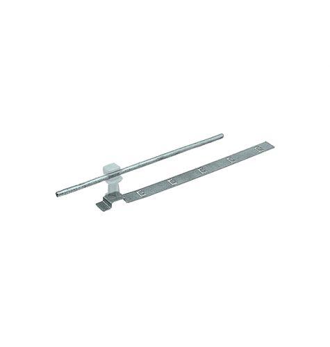 Держатель проводника круглого 6-8 мм для черепичной кровли прозрачный, оцинк.