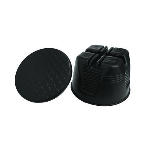 Держатель проводника круглого 8-10 мм для плоской мембранной кровли, пластик с бетоном