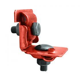 Держатель проводника круглого 6-10 мм для фальца 0.7-8 мм универсальный, медь