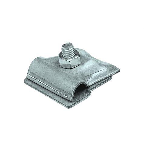 Держатель проводника круглого 6-10 мм для фальца 0.7-3 мм, оцинк.