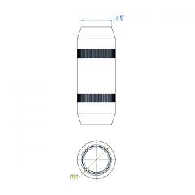 Муфта соединительная 18 мм, латунь