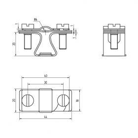 Держатель проводника круглого 8-10 мм, медь
