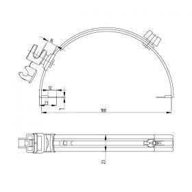 Держатель проводника круглого 6-8 мм для конька серый, оцинк.
