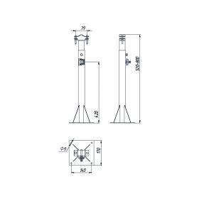 Кронштейн для мачты 500-800 мм, сталь