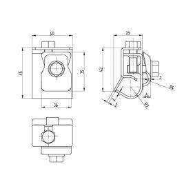 Держатель проводника круглого 8-10 мм для желоба водостока, медь