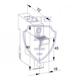 УЗИП ETK 40/255 TC (Сменный модуль)