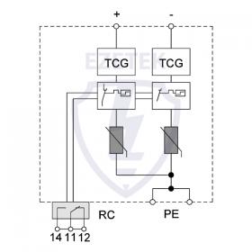 УЗИП EZ B 12,5/1000 PV TCG