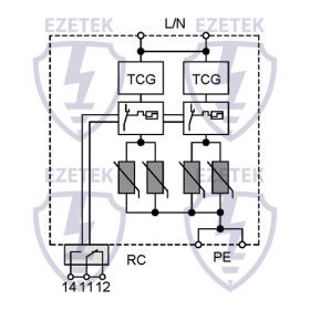 УЗИП EZ B 25/750 WT TCG