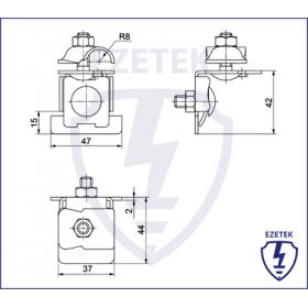 Держатель проводника круглого 6-10 мм для фальца 0.7-8 мм, оцинк