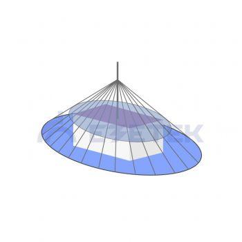 Расчет зоны молниезащиты одиночного стержневого молниеотвода (h<150 м)