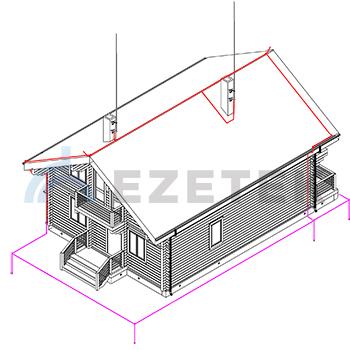Защита установкой молниеприемников на конек, домоход, фронтон