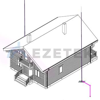 Защита дома отдельно стоящей мачтой