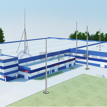 Молниезащита для крупных промышленных зданий