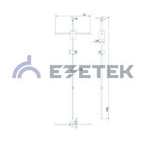 Заземлитель для передвижных электроустановок EV (1 х 1.5 м)