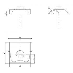 Зажим соединительный круглого проводника 8-10 мм прижимной с анкером, оцинк.