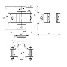 Кронштейн для мачты 10 мм, сталь