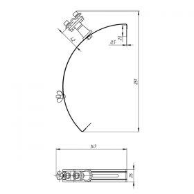 Держатель проводника круглого 6-10 мм для конька, серый, оцинк.