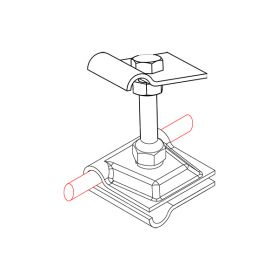 Держатель-зажим соединительный круглого проводника 8-10 мм двусторонний, оцинк.