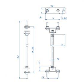 Точка заземления межстеновая 200-300 мм