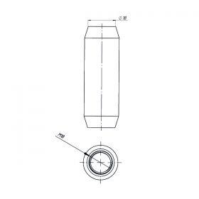 Муфта соединительная 18 мм, нерж.