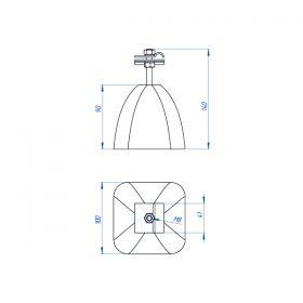 Держатель-зажим соединительный круглого проводника 8-10 мм, оцинк. с бетоном