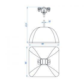Держатель полоса/пруток для плоской кровли 300 мм, оцинк. с бетоном 3.5 кг