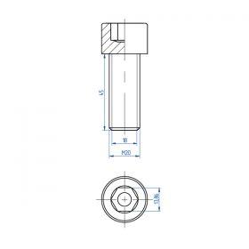 Головка удароприемная 18 мм, сталь
