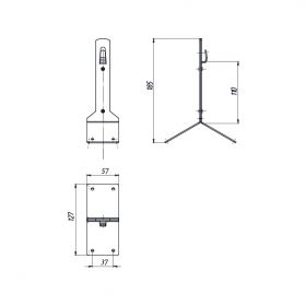 Держатель проводника круглого 6-10 мм для конька, высота 110 мм, оцинк.