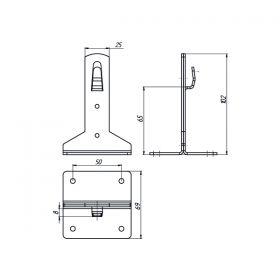 Держатель проводника круглого 6-10 мм, высота 65 мм, оцинк.